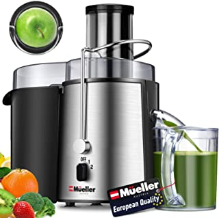 Mueller Austria Juicer Ultra Power, Easy Clean Extractor Press Centrifugal Juicing Machine, Wide 3