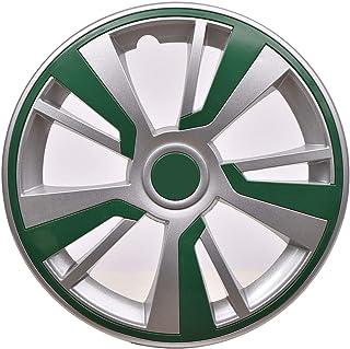 OMAC Capa para aro de roda, 40,64 cm, cinza, conjunto com 4 peças (verde)