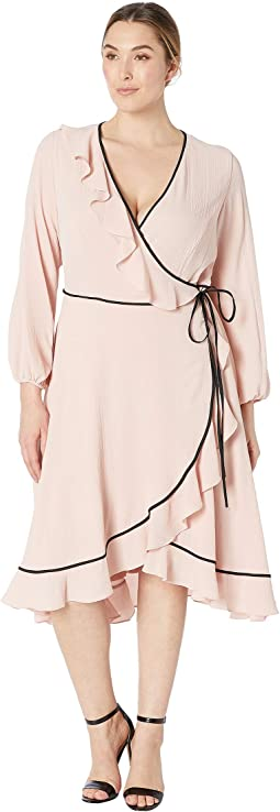 Plus Size Pebble Chiffon Wrap Dress