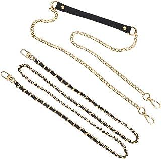 Bestomrogh 2Pcs Metal Bag Chain Shoulder Bag Strap Chains for Adjustable Handbag Shoulder Strap Bag Accessories(Light Gold...
