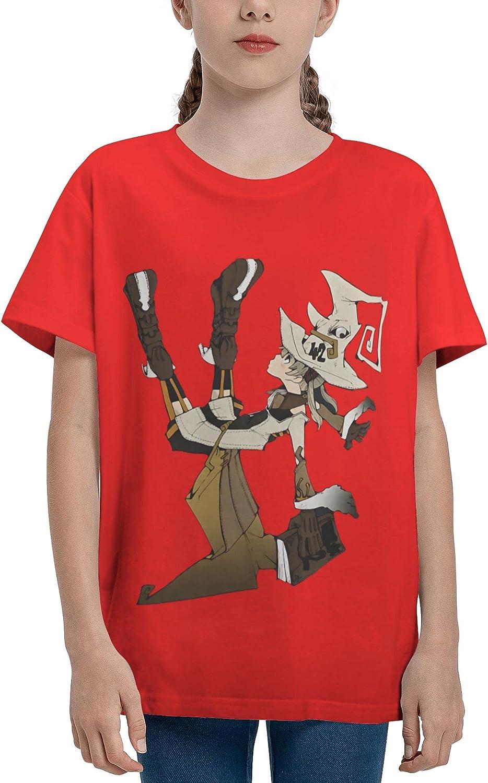 JarBruan Unisex Kid Manga Anime Boy Girls Tee Short Sleeve Cotton Cartoon T-Shirts for Child School