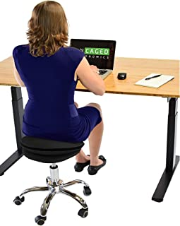 WOBBLE STOOL AIR rolling balance exercise ball chair alternative for active sitting. Swiveling adjustable height ergonomic office desk stool cool cute bouncy wiggle seat cushion stability medicine