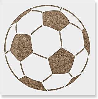 Soccer Ball Stencil Template for Walls and Crafts - Reusable Stencils for Painting in Small & Large Sizes