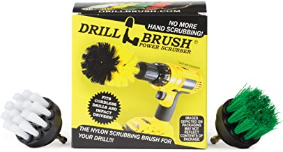 Drill Brush - Grout Cleaner - 2-inch Diameter Round Spin Brush Set - Kitchen Accessories - Scrub Stove, Oven, Sink, Tile -...