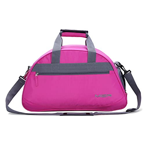 d678d04cab MIER Gym Bag Sports Holdall Weekend Travel Duffel Bag with Shoes  Compartment for Women and Men