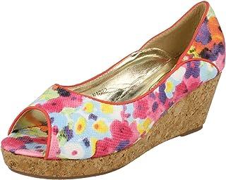 Girls White//Pink Spot On Sandals UK Sizes 10-2 H1066