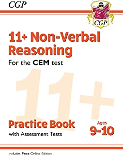 New 11+ CEM Non-Verbal Reasoning Practice Book & Assessment Tests - Ages 9-10 (with Online Edition) (CGP 11+ CEM)