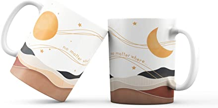 Xulo 2PACK Girlfriend/Boyfriend Coffee Cups | Gift for your Partner | Set de Tazas para Café | Coffee Mug Set | Moon and S...