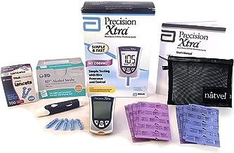 Precision Xtra Blood Glucose and Ketone Monitoring System Bundle Kit - Abbott Precision Xtra Meter + 30 Ketone Strips + 30 Glucose Strips + 100 Lancets + 100 Wipes + Complete Diabetes Testing Kit