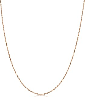 10k Rose Gold 1 mm High Polish Cable Chain Necklace (14, 16, 18, 20, 22, 24 or 30 inch)