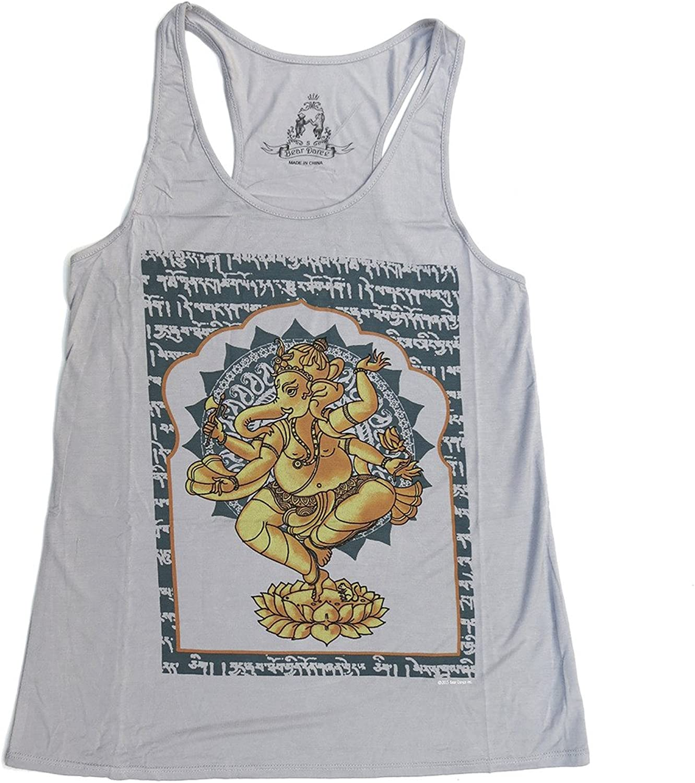 Bear Dance Ganesha Deity Racerback Tank