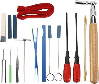 YaeCCC 16 Pieces Professional Piano Tuning Kit Tuner Tools Including Tuning Hammer,Tuning Wrench,Tuning Fork, Felt Tempera...