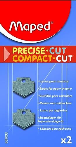 Maped - Lot de 2 Lames pour Massicot Compact Cut A4 - Lames de Rechange pour Rogneuse Maped 30 cm - Pack de 2 Lames