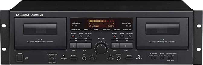 Tascam 202MKVII Double Cassette Recorder Deck with USB Port
