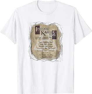 Mens Charmed Instant Karma Spell Adult Unisex T Shirt