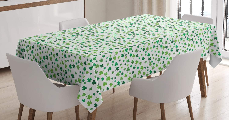 Lunarable Shamrock Tablecloth St Patrick's Day Design Clovers wholesale M Award