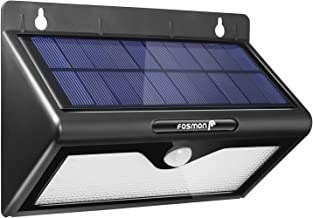 Outdoor Motion Sensor Solar Light, Fosmon 46 LED Bright Security Lights Wireless IP64 Waterproof Outside Wall Lighting for Patio, Driveway, Deck, Entryway, Garden, Fencing, Garage - Black