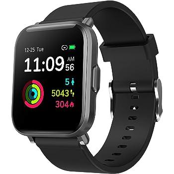 Smartwatch Activity Tracker, Orologio Fitness Sportivo Uomo Donna con Touchscreen Completo Cardiofrequenzimetro da Polso Sonno Impermeabile 5ATM Contapassi Cronometro Call SMS per Android iOS Huawei