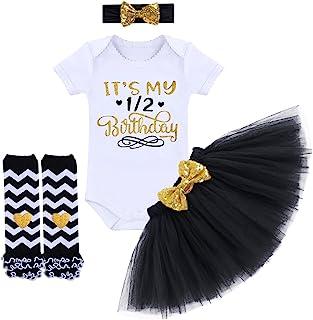 Baby Girls 1st Birthday Cake Smash 3pcs Outfits Set Cotton Romper  Bodysuit+Tutu Dress+ 1b147d2979de