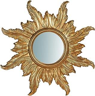Biscottini Wall Mirror, Wood, Multi-Colour, One Size