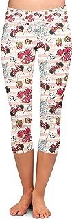 Rainbow Rules Minnie Best Day Ever Disney Inspired Yoga Leggings - Capri 3/4 Length, Low Waist