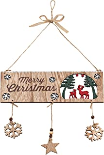 Zilo Novelties Farmhouse Christmas Decor Christmas Sign Wooden (B)