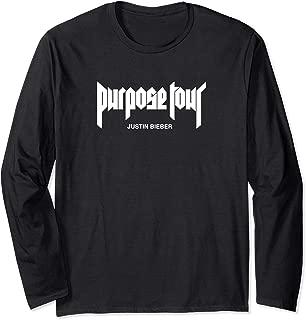 Purpose Tour Merch Logo Long Sleeve T-Shirt