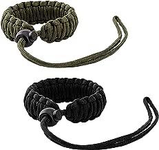 MoKo Universal Paracord [2 Pack], Nylon Braided Adjustable Camera Hand Grip Strap for Video Camcorder, Binoculars and Nikon/Canon/Sony/Minolta/Panasonic/SLR/DSLR Digital Cameras, Black/Army Green