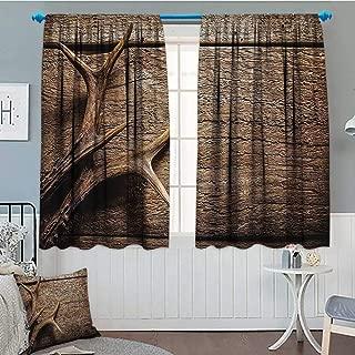Best antler curtain rod holders Reviews