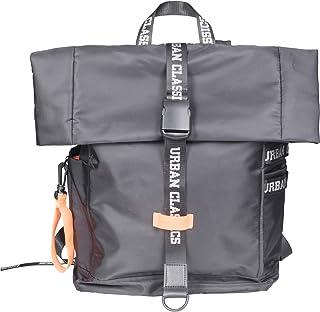 Urban Classics Nylon Backpack Zaino Casual, 60 cm, 18 liters, Multicolore (Blk/Neonorange)