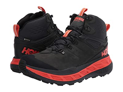 Hoka One One Stinson Mid GORE-TEX(r) (Anthracite/Mandarin Red) Men