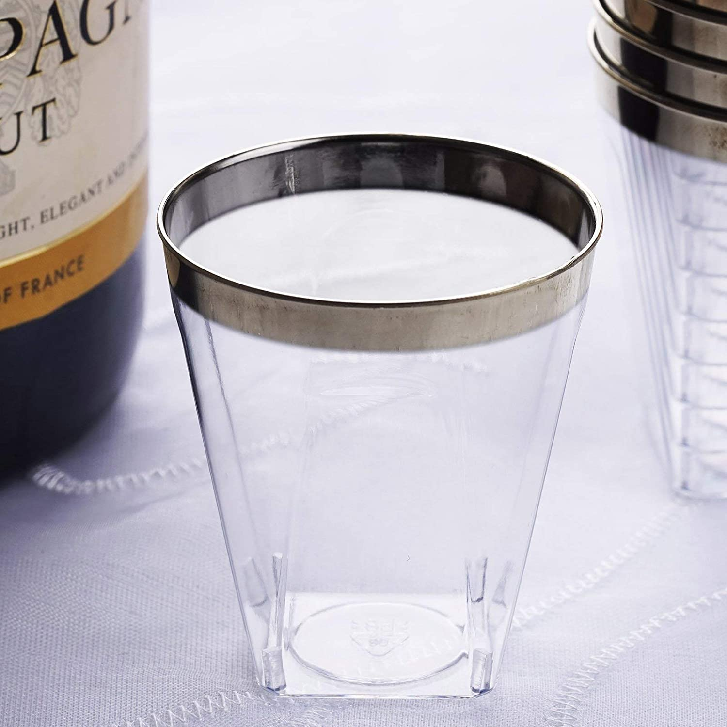 Weddings Venue Shop Plastic Sale Special Price Shot Glasses NEW before selling with oz 2 Clear - Sil