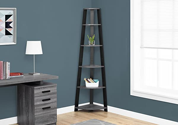 Monarch Specialties I I 2750 Bookcase 72 H Grey Black