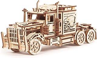 بزرگ اسباب بازی اسباب بازی، مدل نیمه کامیون واقعی - اسباب بازی سوپر کامیون - پازل چوبی 3D، اسباب بازی، اسباب بازی های ECO، بهترین اسباب بازی DIY - STEM اسباب بازی برای پسران و دختران