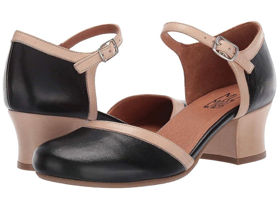1950s Shoe Styles: Heels, Flats, Sandals, Saddles Shoes Miz Mooz Fleet Black Womens Shoes $139.95 AT vintagedancer.com