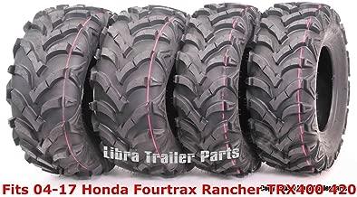 Set 4 ATV tires 24x8-12 & 24x10-11 for 04-17 Honda Fourtrax Rancher TRX400 420