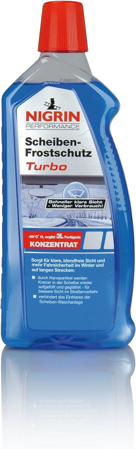 Nigrin 73152 Scheiben Frostschutz Konzentrat Turbo 1 L Bis 60 C Polycarbonat Verträglich Für Xenon Scheinwerfer Und Fächerdüsen Geeignet Auto