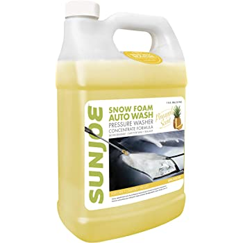 Sun Joe SPX-FCS1G Premium Snow Foam Cannon Pineapple Pressure Washer Rated Car Wash Soap and Cleaner, 1-Gallon