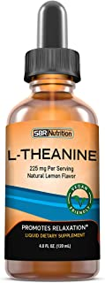 MAX Absorption Liquid L-Theanine Drops | All Natural, Vegan, Alcohol Free, Non-GMO | for Stress Relief, Relaxation, Focus ...