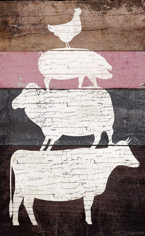 Over item handling Posterazzi PDXKB1122SMALL Barn Animals Poster Kyra Brown Max 60% OFF Print