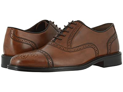 Johnston & Murphy Daley Cap Toe (Tan Full Grain) Men
