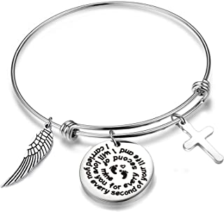 QIIER Infant Child Loss Memorial Miscarriage Bracelet I Carried You Every Second of Your Life and I Will Love You Every Second of Mine Bracelet Remembrance Keepsake