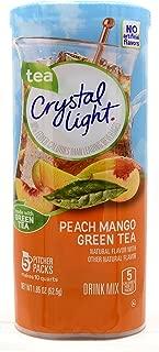 Crystal Light Peach Mango Green Tea Drink Mix, 10-Quart Canister (Pack of 3)