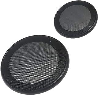 メッシュ スピーカー グリル カバー 2個セット 6.5インチ (16/17cm用) ブラック