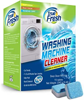 True Fresh Washing Machine Cleaner Tablets, 15 Solid Deep Cleaning Tablet, Finally Clean All Wash Machines Including HE Fr...