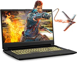 Sager NP6877EQ 17.3-Inch Thin Bezel FHD 144Hz Gaming Laptop, Intel i7-10750H, GTX 1650Ti 4GB, 16GB RAM, 500GB NVMe SSD, Wi...