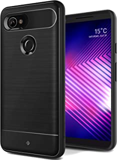 Caseology Vault for Google Pixel 2 XL Case (2017) - Rugged Matte Finish - Black