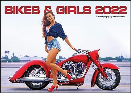 Calendrier Femme 2022 MAXI CALENDRIER 2022 SEXY NUE ET MOTO PHOTO GRAND FORMAT (moto tn
