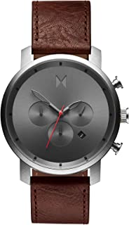 Chrono Watches | 45 MM Men's Analog Watch Chronograph (Gunmetal Chestnut)