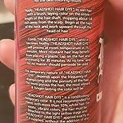 Color de pelo rojo, Headshot Red Alert, tinte de pelo semipermanente, 150 ml.